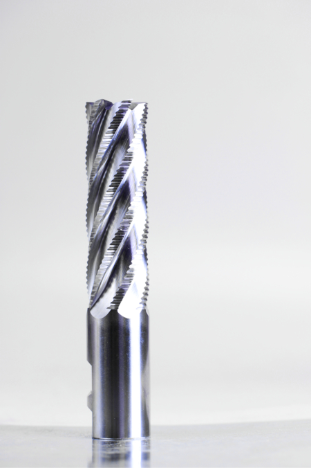 Course Tooth 6 Flute M42x8 Cobalt Roughing End Mill Center Cutting with Weldon Flat